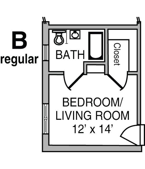 Cribbs Floor Plan B – Regular
