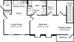 Apartment Floor Plan - 1 bedroom