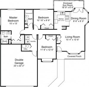 Villa Floor Plan - 3 Bedroom