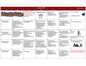 Thoburn Village January Activity Calendar