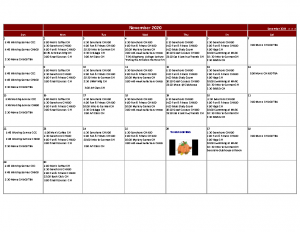 Thoburn Village November Activity Calendar