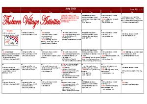 Thoburn Village July Activity Calendar
